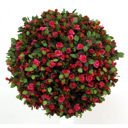 Rose Artificiali mini red/pink, sfera in vari diametri da 40 a 65 cm.