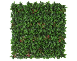 Siepe Artificiale PHOTINIA cm 100x100 in mattonelle