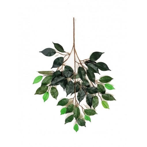 Ficus Artificiale Normal verde, ramo con 42 foglie