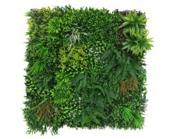 Full Eco-Greenwall - Resistente ai raggi UV - Mix Green/Red - cm.100x100 - Disponibile per la spedizione dal 18/09