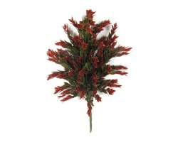 RUSCUS GREEN / RED Leaves plastic, CM.63, pk 6/60 UVR