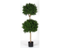 Boxwood Ball Luxe H. 140 cm 2 Ball - Ø40 + Ø50