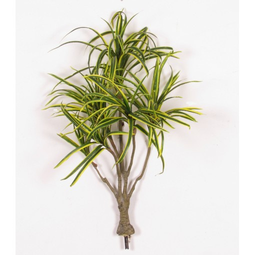Dracena Artificiale Variegata (Green/Yellow), piantina con 6 rami H.90